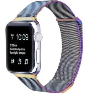 Milanese Mesh Loop Band For Apple Watch Rainbow